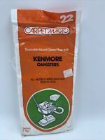 Carpet Magic Vacuum Cleaner Bag Kenmore Canisters 5023 5033 Style22 1-2pack READ