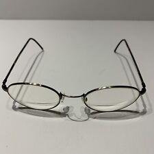Marchon Superthin 7 Eyeglass Frames Brown Demi Pewter 48 20 140 Round Nose Piece