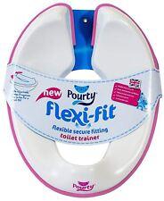 Pourty Flexi Toilette Basket Rose Bébé Enfant Siège Filles 18m + Entraînement BN