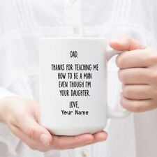 Personalised Fathers Day Coffee Mug Custom Mug For Dad Fathers Day Thanks Dad