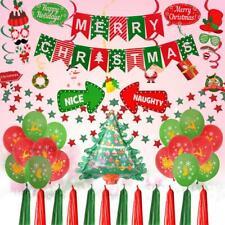 Christmas Photo Props Set Xmas Tree Balloons Merry Christmas Flags Balloon Decor