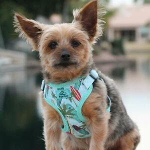 Doggie Design Wrap and Snap Choke Free Dog Harness - Surfboard & Palms