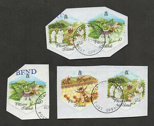 Pitcairn Islands #507-509, Honey Bees, used, on piece.