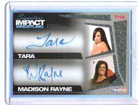 TNA Tara Madison Rayne 2011 Signature Impact Gold Dual Autograph Card SN 11 / 25