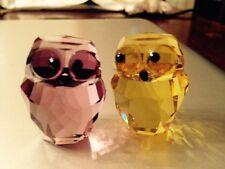New Swarovski Figurines: 2 Owls In Love - Victor & Victoria. SALE