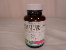 PureMom Organic Breastfeeding Supplement - 60 Capsules - Milk Thistle - Exp 3/21