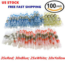 100Pcs Heat Shrink Solder Sleeve Butt Splice Wire Connector Waterproof Y6S5