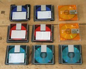 9 x Recordable Minidiscs with Slip Cases - Sony & TDK - Joblot