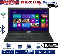 "ASUS X551C 15.6"" Laptop Intel i3 3rd Gen 1.8Ghz 4GB RAM 500GB HDD Win 10 A Grade"