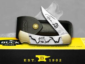 Buck 110 Yellowhorse Folding Hunter Knife Wolf Valley White Pearl Corelon 1/250