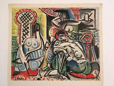 Affiche PICASSO l'héritage de Delacroix 1964