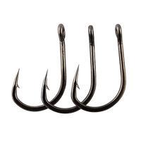 Lot 10827 Stainless Steel Live Bait Fishing Hook Sharpened Saltwater Fish Hooks