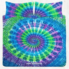 Tie Dye Hippie Mandala & Bohemian KING Size Cotton Bedding Bed Sheet Flat Sheets