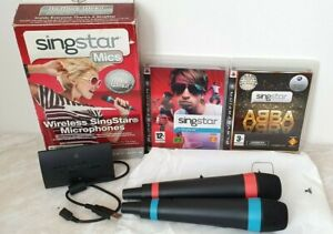 Official Singstar Wireless Microphones With Receiver Boxed - PS3 & Games