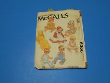 """McCall Sewing Pattern 6366 Wardrobe for Baby Dolls 15 1/2"""" 17"""""""