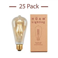 HOAM Lighting Edison Bulb, Dimmable LED, Fits Standard Home and Office Fixtures