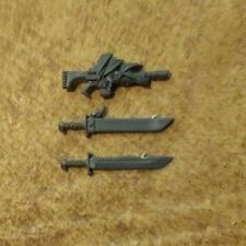 Imperial Guard Catachan Heavy Weapons Lasgun and Sword Bits