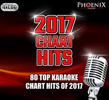 Phoenix Karaoke 2017 CHART HITS. 80 Top Songs. 4 CD+G CDG Disc Set.