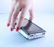 Banco De Energía Solar LED 100000mAh portátil 2 USB Cargador de batería para todos los móviles