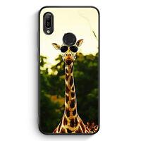 Coole Giraffe Silikon Hülle für Huawei Y6s Motiv Design Tiere Lustig Witzig C...