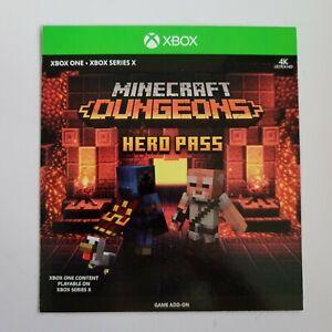 XBOX ONE / SERIES X Minecraft Dungeons Hero Pass DLC Add On Content