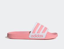 Size 7 8 9 10 Adidas Adilette Cloudfoam Women Slides Slippers Sandals White Pink