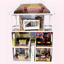 XXL Maison de poupée rêve Villa Barbie en bois avec meuble