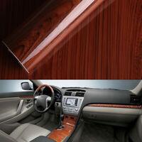 1x Glossy Wood Grain Textured Self-adhesive Car Vinyl Wrap Sticker Accessories