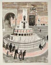"""Pérouse """" La Fontaine Majeure"""" gravure de Yves BRAYER"""