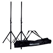 Rhino Speaker Stand Kit 35mm Heavy Duty Robust Tripod kit inc Carry Bag DJ Disco