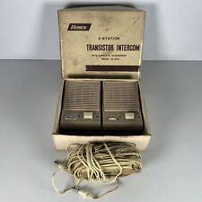 More details for vintage homer 2-station transistor intercom model ke-550 boxed untested w/cable