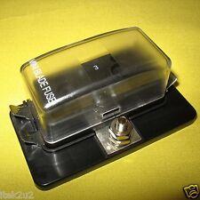FUSE BLOCK Panel Box 4 Way Mini Blade APM ATM Holder 10 15 20A 12V 24V Van Boat