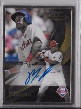 2016 Topps Gold Label Maikel Franco Gold Framed Auto On Card Phillies GLFA-MF