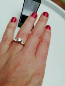 Platinum diamond ring 1.03ct VVS1