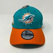 MIAMI DOLPHINS NFL NEW ERA 39THIRTY ON FIELD TEAM HAT SIZE L/XL $32 MSRP