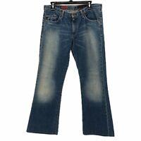 AG Adriano Goldschmied Womens 32 The Angel Bootcut Medium Wash Denim Blue Jeans