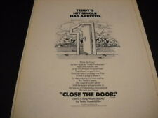TEDDY PENDERGRASS hit single CLOSE THE DOOR has arrived 1978 PROMO DISPLAY AD