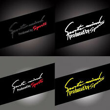 New Racing Car Stickers Auto Reflective TRD Car Vinyl Graphic Decal 1 pcs