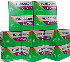 10 x FUJI FUJICOLOR 200 35mm 36exp CHEAP COLOUR PRINT FILM by 1st CLASS POST