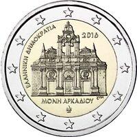 Griechenland 2 Euro 2016 Arkadi Kloster bankfrische Gedenkmünze