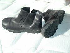 ZARA boys chaussures  boots p 32 cuir noir portées une fois tbe