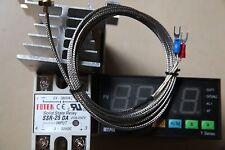 Dual F/C Thermostat Temperature Controller TA8-SNR + K sensor+ 25A SSR+Heatsink