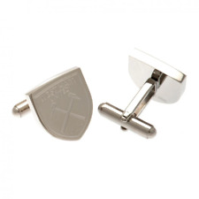 West Ham United FC Stainless Steel Formed Cufflinks   OFFICIAL