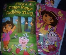 Dora the Explorer soft toy stuffed PILLOW BOOK & TOTE BAG nickelodeon doll dvd