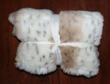 POTTERY BARN PB TEEN SNOW LEOPARD SHERPA FAUX FUR THROW NEW WITHOUT TAGS