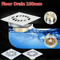 """4"""" Bathroom Carved Flower Kitchen Waste Shower Floor Drain Anti-Odor Anti-Insect"""