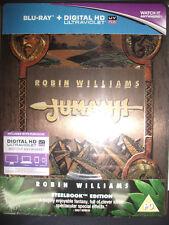 Jumanji Embossed STEELBOOK (Blu-ray, UK) Robin Williams REGION FREE  New Sealed