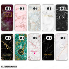 PERSONALISED MARBLE ONYX STONE CUSTOM NAME INITIALS HARD CASE COVER FOR SAMSUNG