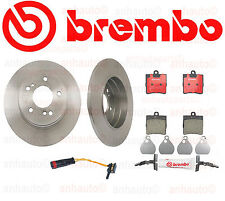 Brembo Rear Brake Kit  Mercedes C230 C240 SLK280 SLK300 Pads Rotors Sensor NEW