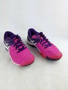Asics Gel Resolution 6 Hot Pink/Purple Women Athletic Tennis Court Shoes Size 6